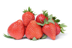 Heap of fresh ripe whole strawberries Royalty Free Stock Image