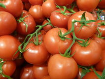 Heap of fresh round red tomatoes Stock Photos