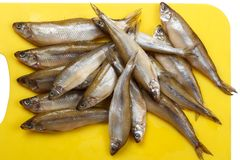 Heap of fresh sticklebacks Royalty Free Stock Images