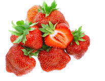 A heap of fresh strawberries on white.Isolated Stock Images