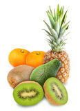 Heap of fresh tropical fruits Royalty Free Stock Images