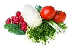 Heap of fresh vegetables Royalty Free Stock Images