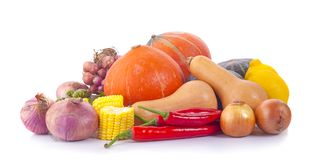 Heap of fresh vegetables isolated on white royalty free stock image
