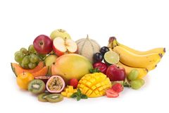 Heap of fruits Stock Photos