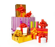 Heap of gift boxes Stock Photo