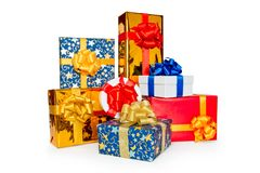 Heap of gift boxes Royalty Free Stock Photos