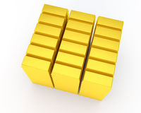 Heap of gold bars Royalty Free Stock Photo