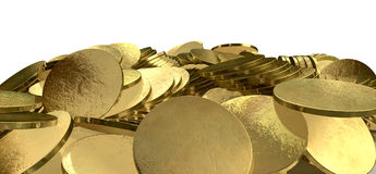 Heap Of Gold Coins Stock Images