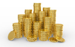Heap gold coins. Business concept Stock Image