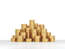 Heap gold coins Royalty Free Stock Photo