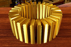 Heap of a goldbars Stock Photo