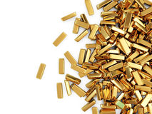 Heap of Golden Bars Stock Photo