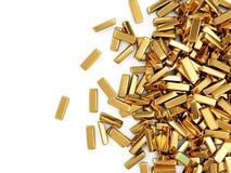Heap of Golden Bars Stock Photo