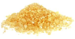 Heap of golden Cane Sugar. Royalty Free Stock Photography