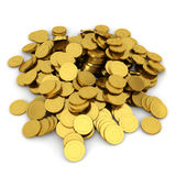Heap of golden coins Stock Photography
