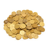 Heap of golden coins Royalty Free Stock Image