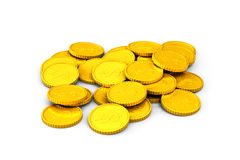 Heap of golden dollar coins Stock Image