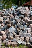 The Heap of Granite Stones Royalty Free Stock Image
