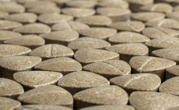 Heap of grassy tablets Stock Photography