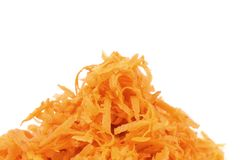 Heap of grated carrots Royalty Free Stock Images