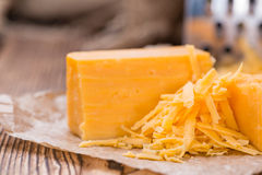 Heap of grated Cheddar Royalty Free Stock Photography