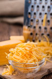 Heap of grated Cheddar Royalty Free Stock Photo