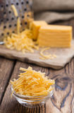Heap of grated Cheddar Stock Photography