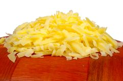 Heap of grated cheese Stock Photo