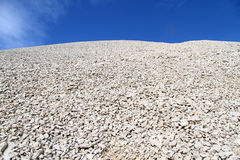 Heap of gravel. On the top of Nemrud Dagi in Turkey Stock Photo