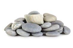 Heap a gray stones Stock Photos