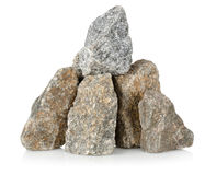 Heap gray stones Royalty Free Stock Photo