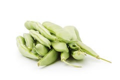 Heap of green beans in pod isolated Stock Images
