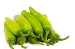Heap of Green Chilli Peppers (Jalapenos) Royalty Free Stock Photography