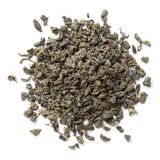 Heap of green gunpowder tea Royalty Free Stock Photo