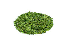 Heap of green hemp tea on white background Royalty Free Stock Photos