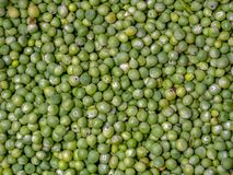A heap of green peas stock image