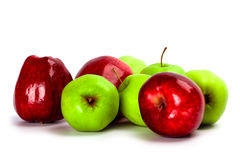 Heap of green and red apples Royalty Free Stock Photo