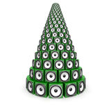 Heap of green sound boxes Stock Photo