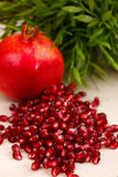 Heap of grenadine seeds Royalty Free Stock Images