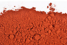 Heap of ground paprika on a white Stock Photography