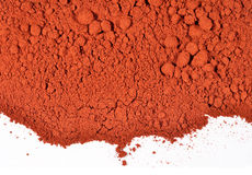 Heap of ground paprika on a white Royalty Free Stock Photography