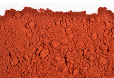 Heap of ground paprika on a white Stock Image