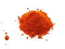 Heap of ground red paprika isolated on white Royalty Free Stock Images