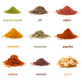 Heap ground spice isolated on white background Stock Photos