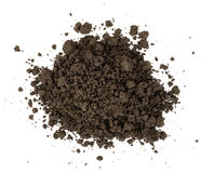 Heap of ground, top view Royalty Free Stock Images