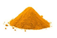 Heap ground turmeric Stock Photo
