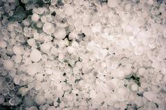 Heap of Hail. Hail stones in a heap Stock Photo