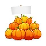 Heap of Halloween Pumpkins Stock Images