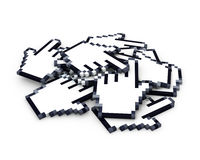 Heap of hand cursors Royalty Free Stock Image