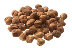 Heap of hazel nuts Stock Image
